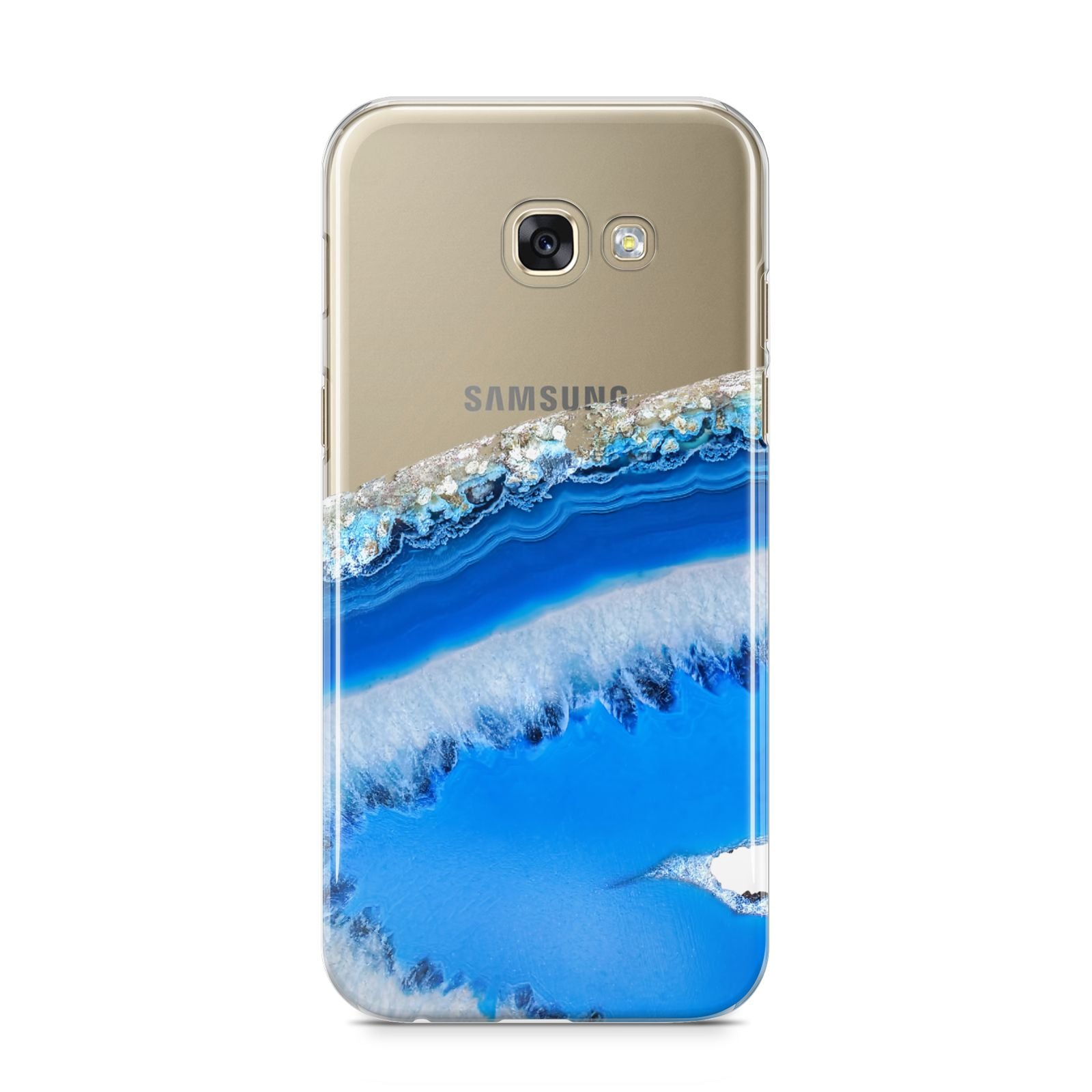 Agate Blue Samsung Galaxy A5 2017 Case on gold phone