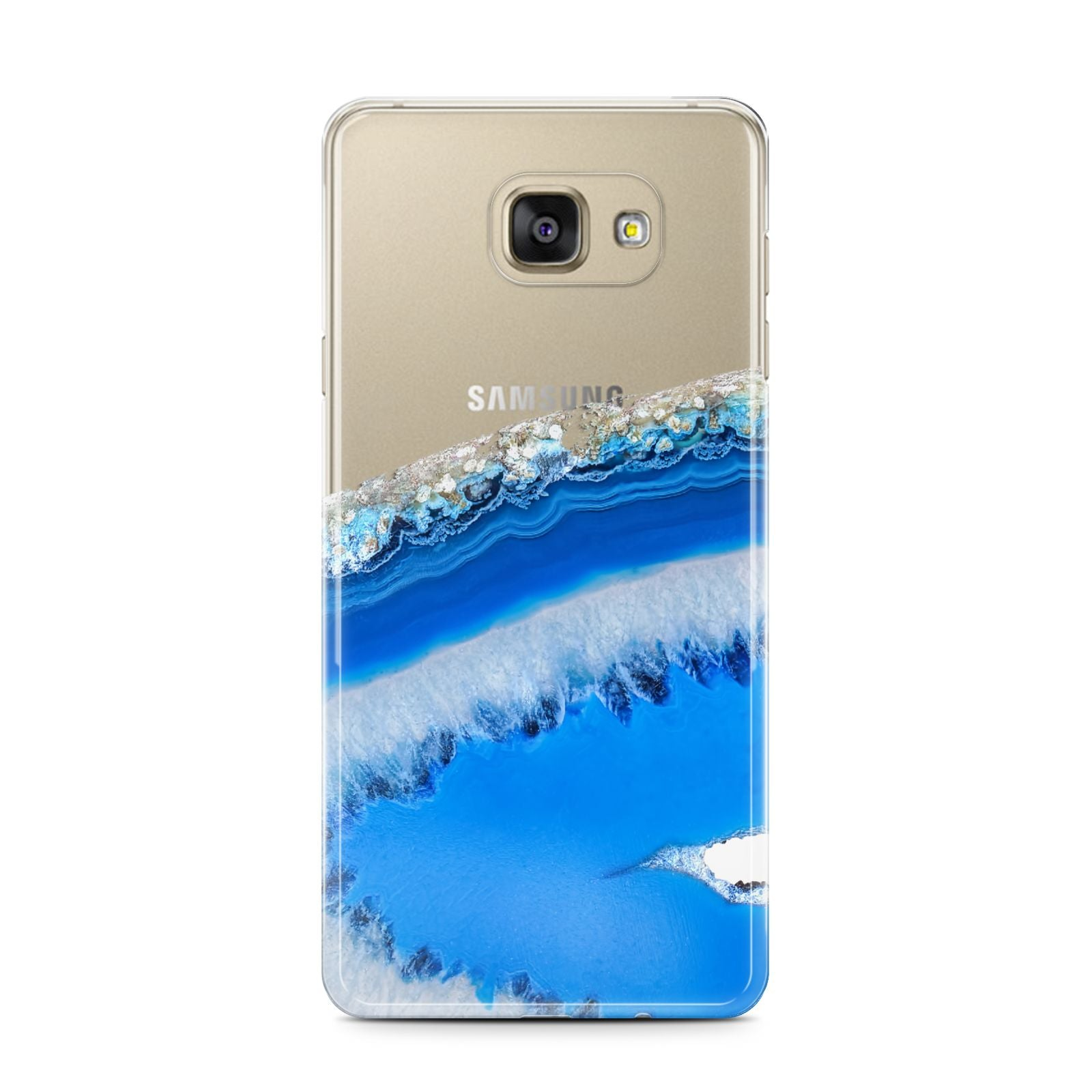 Agate Blue Samsung Galaxy A7 2016 Case on gold phone