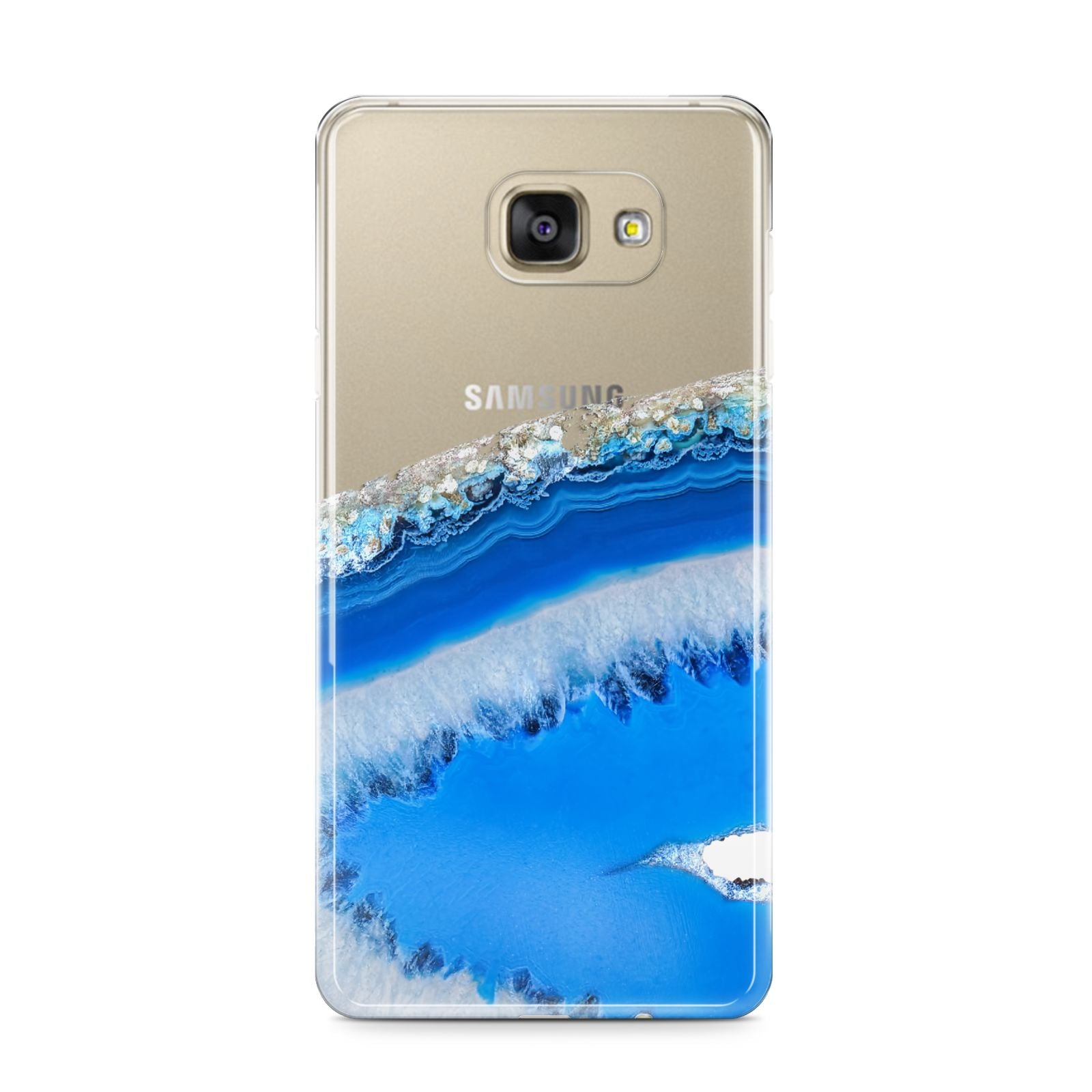 Agate Blue Samsung Galaxy A9 2016 Case on gold phone