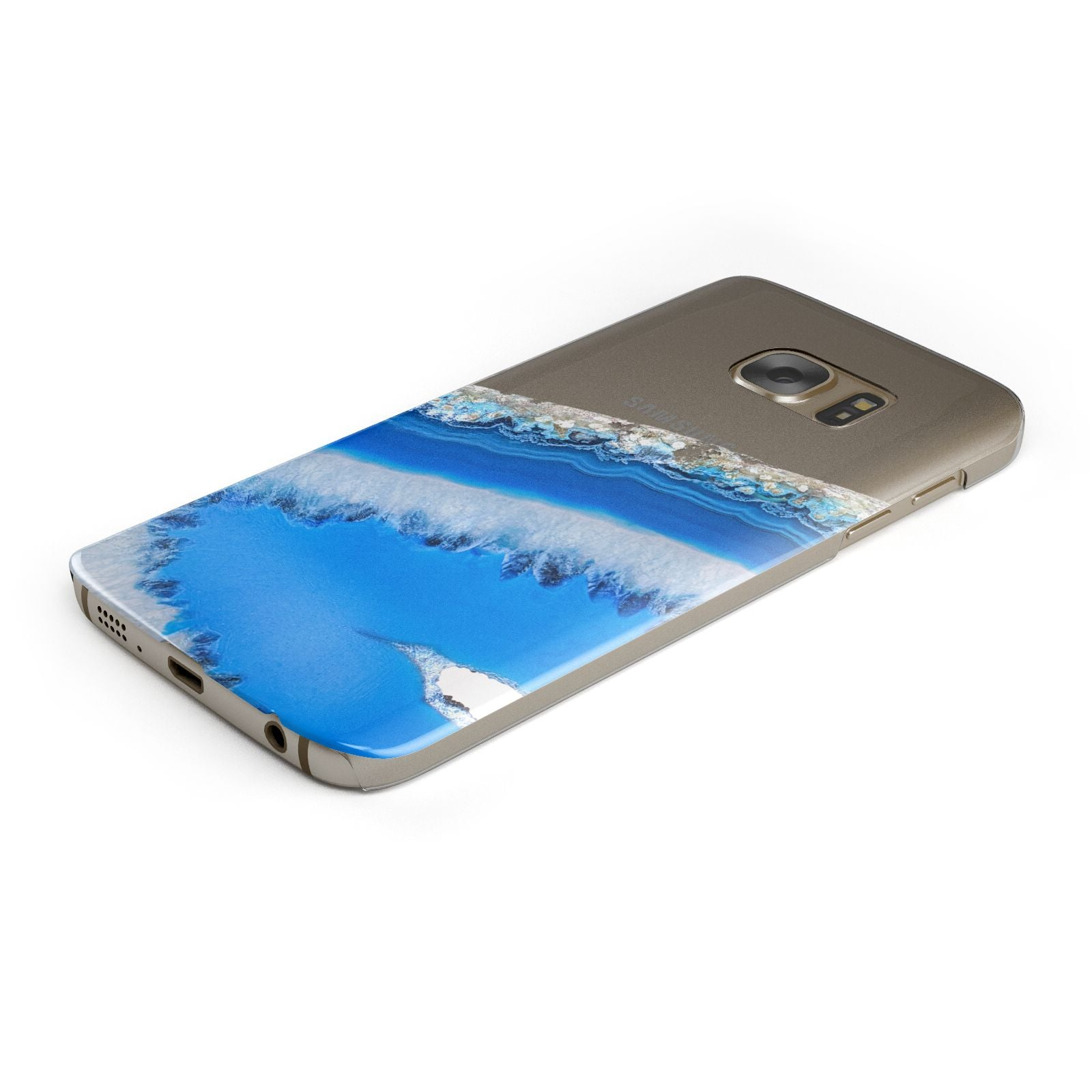Agate Blue Samsung Galaxy Case Bottom Cutout