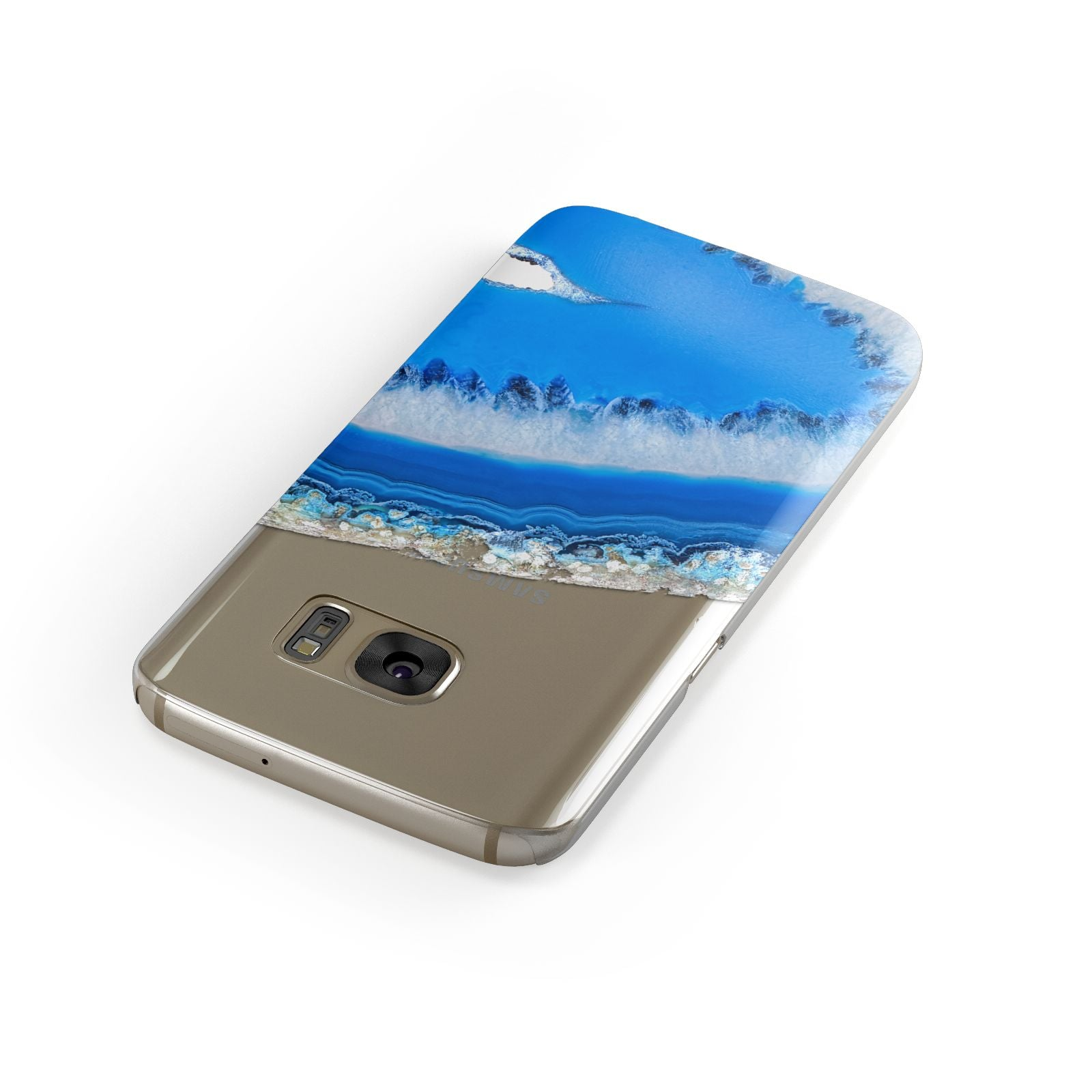 Agate Blue Samsung Galaxy Case Front Close Up