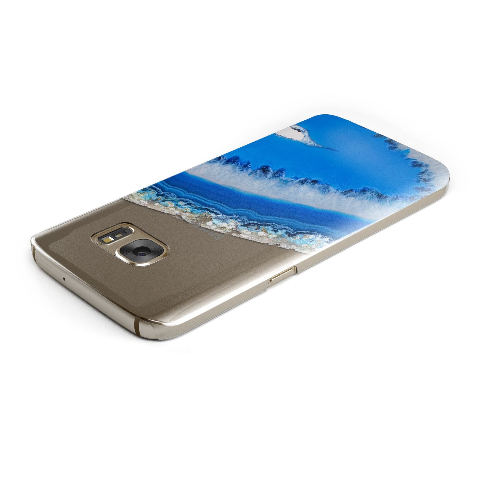 Agate Blue Samsung Galaxy Case Top Cutout