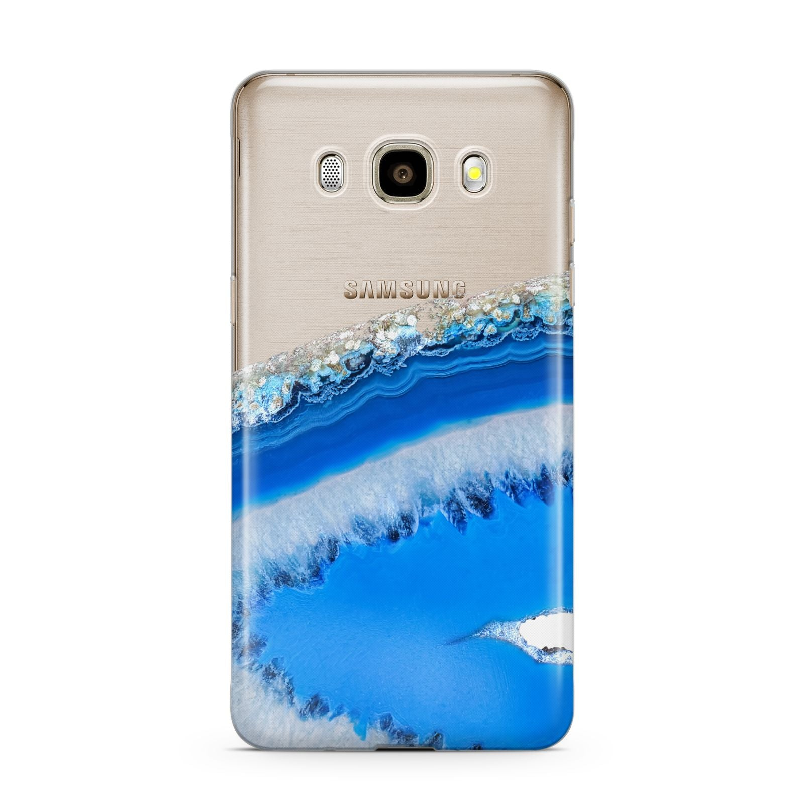 Agate Blue Samsung Galaxy J7 2016 Case on gold phone