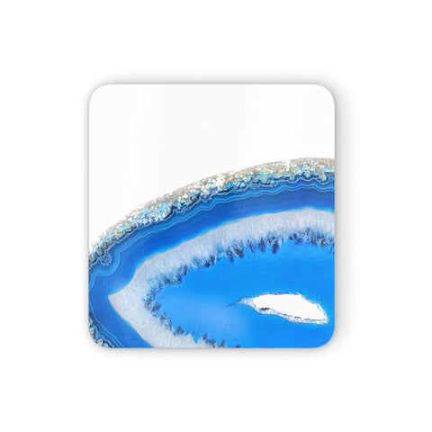 Agate Blue Coasters set of 4