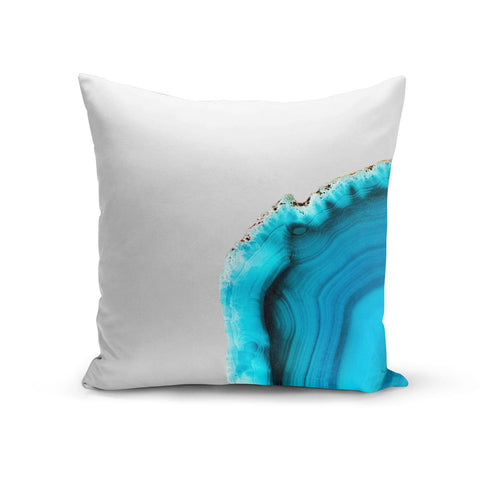 Agate Blue Turquoise Cushion