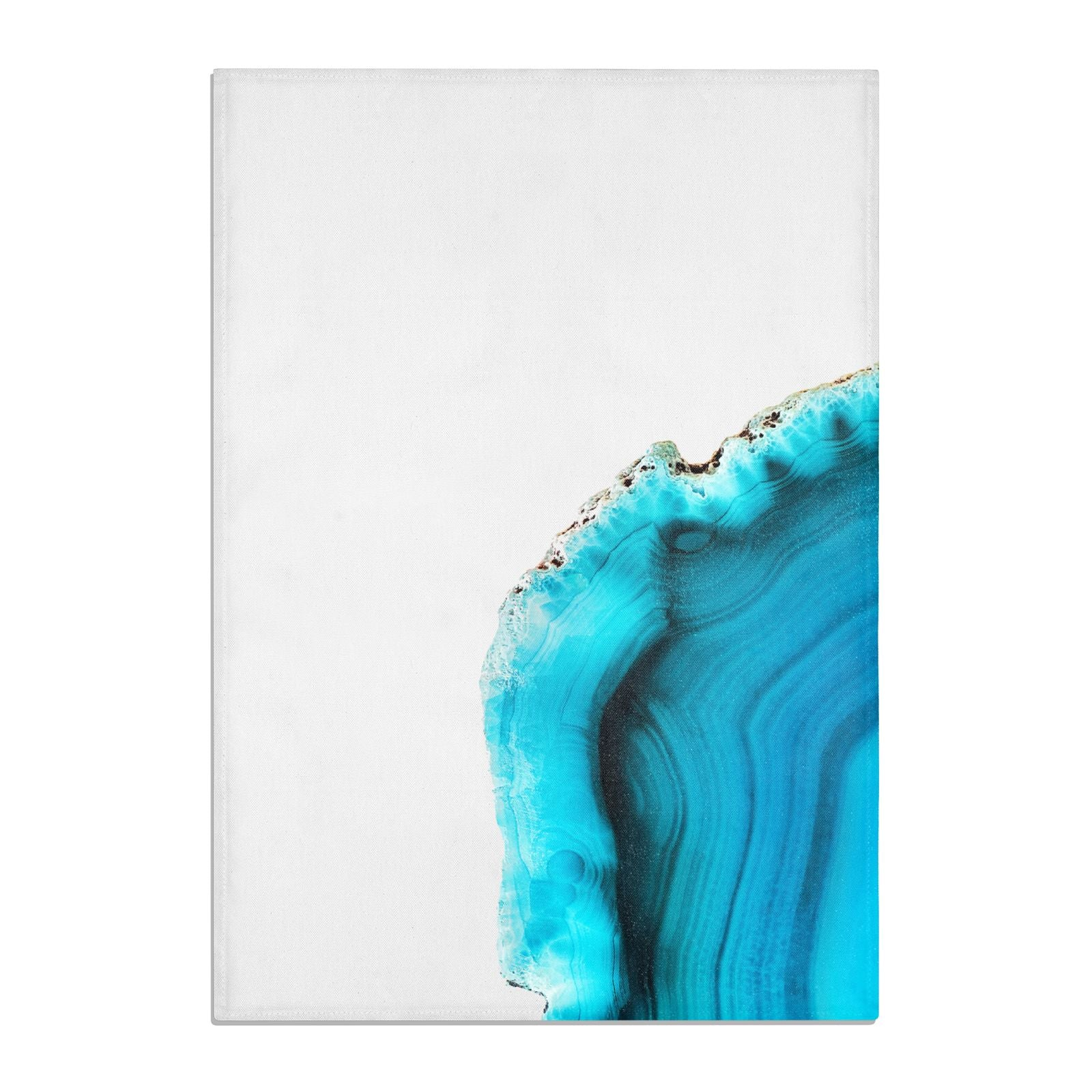 Agate Blue Turquoise Cotton Tea Towel