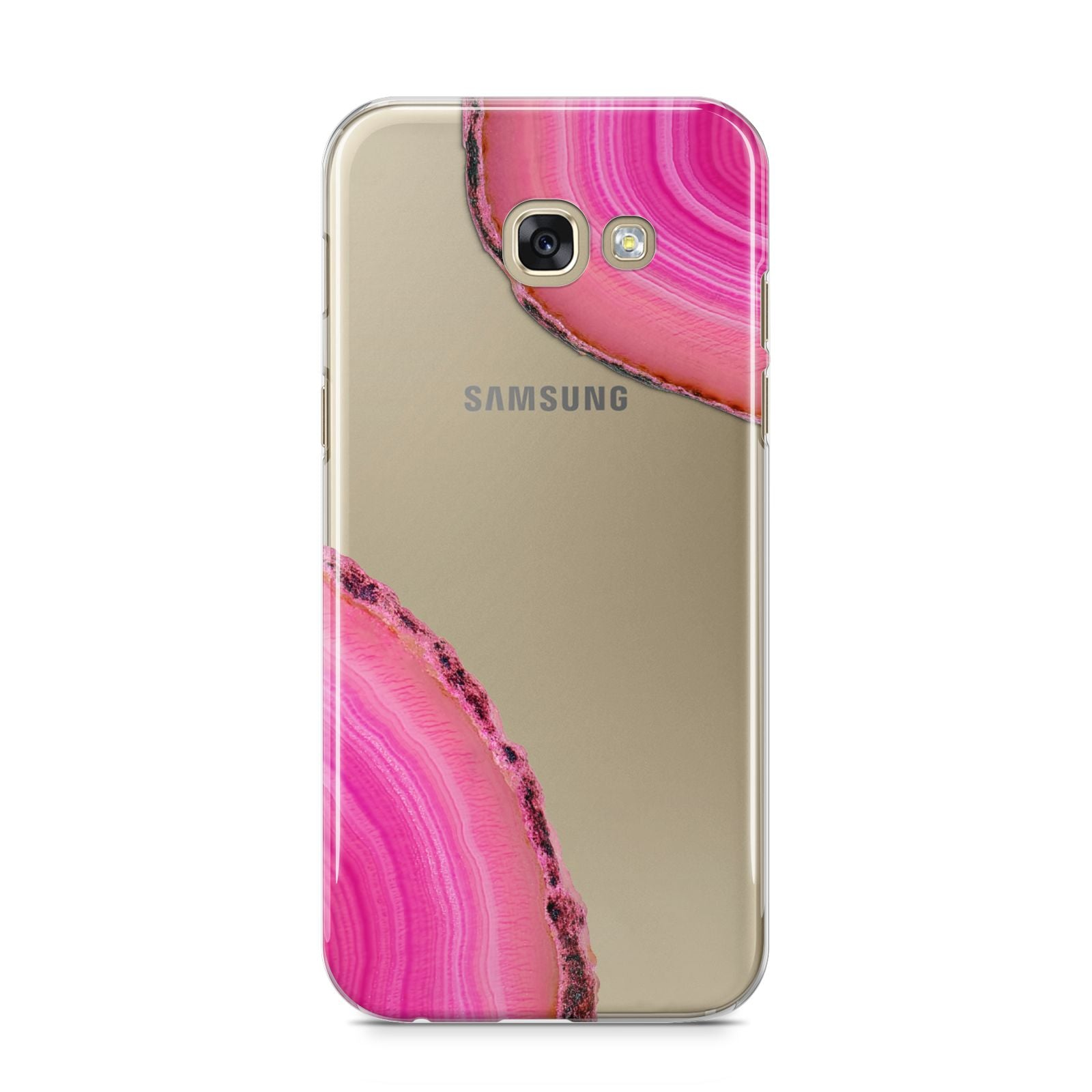 Agate Bright Pink Samsung Galaxy A5 2017 Case on gold phone