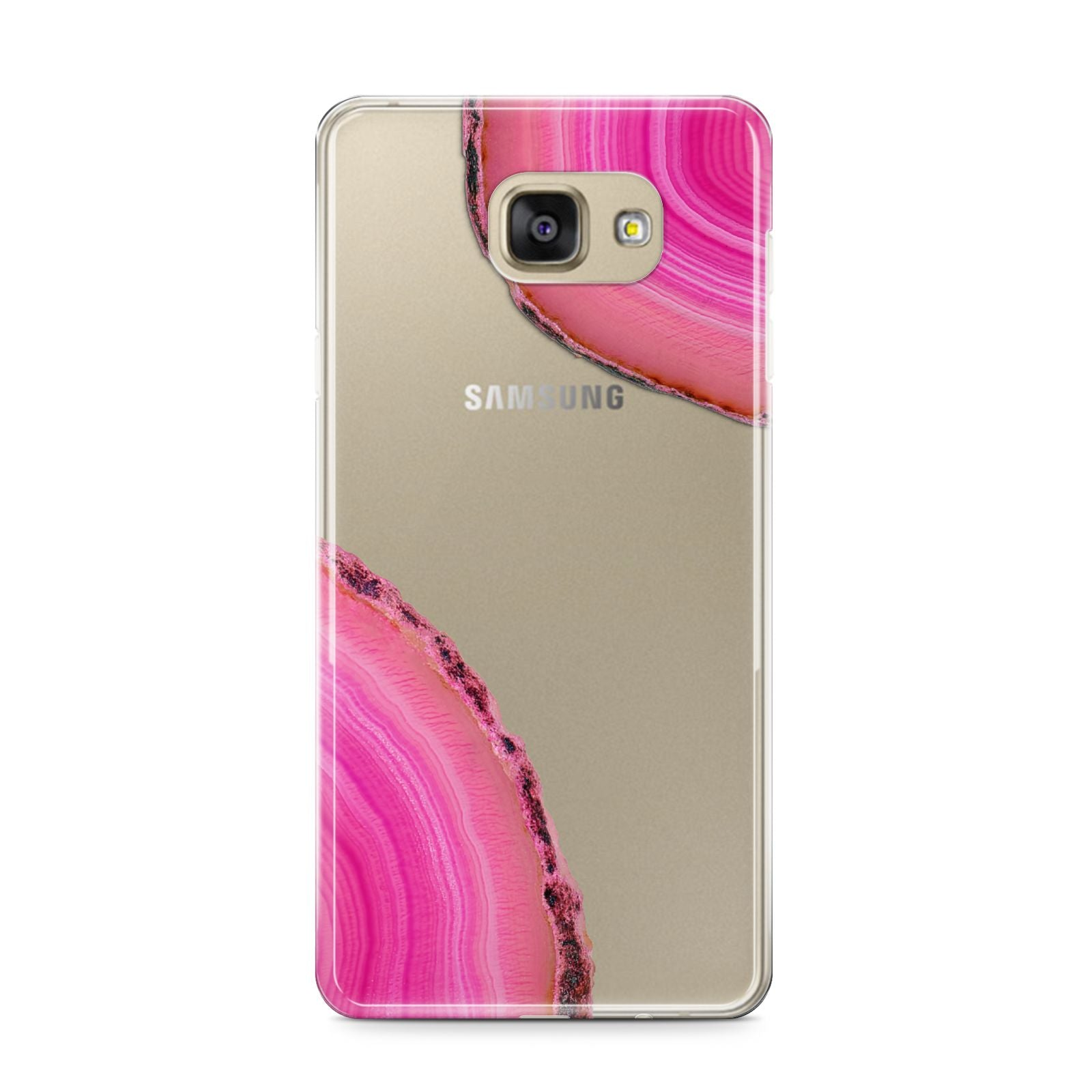 Agate Bright Pink Samsung Galaxy A9 2016 Case on gold phone