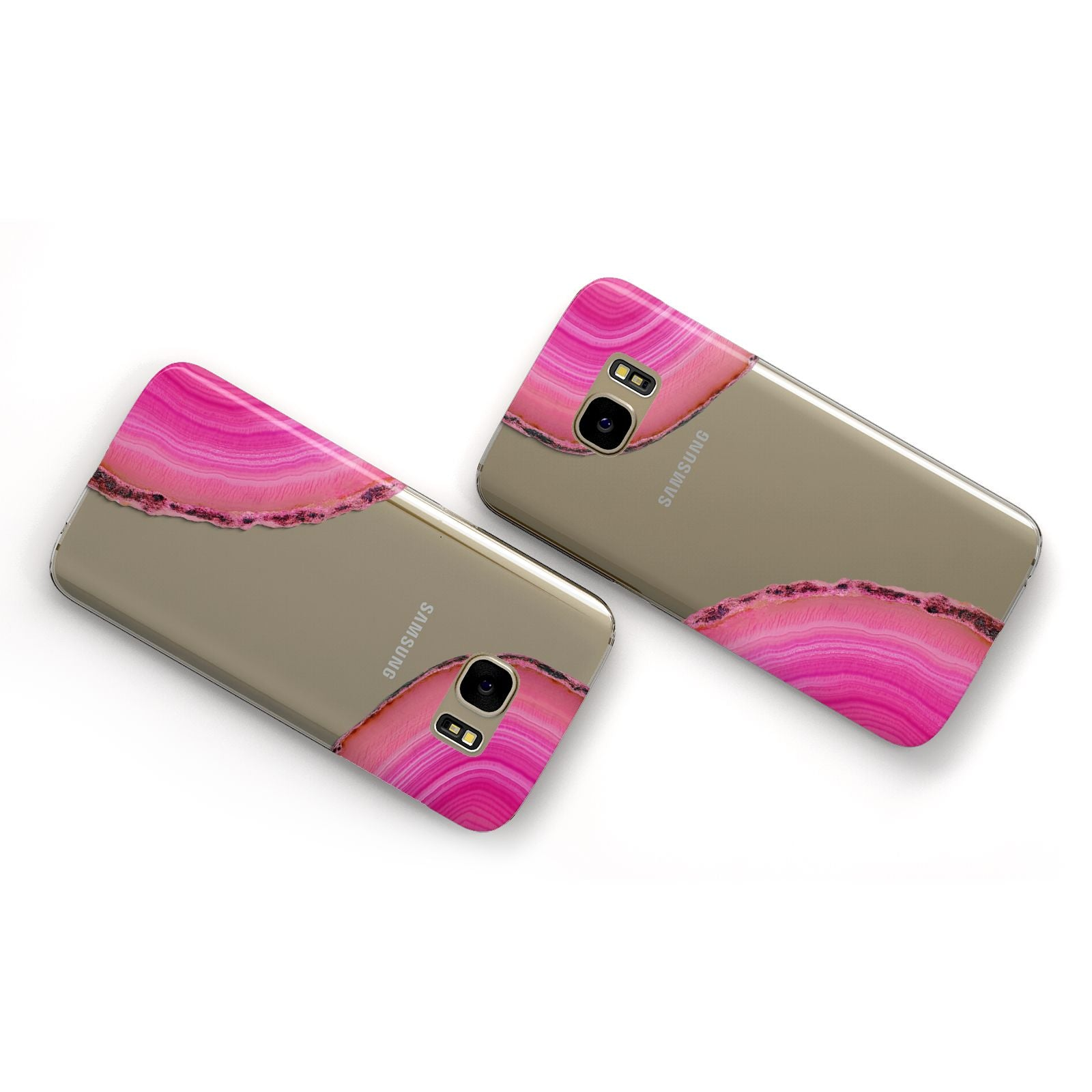 Agate Bright Pink Samsung Galaxy Case Flat Overview