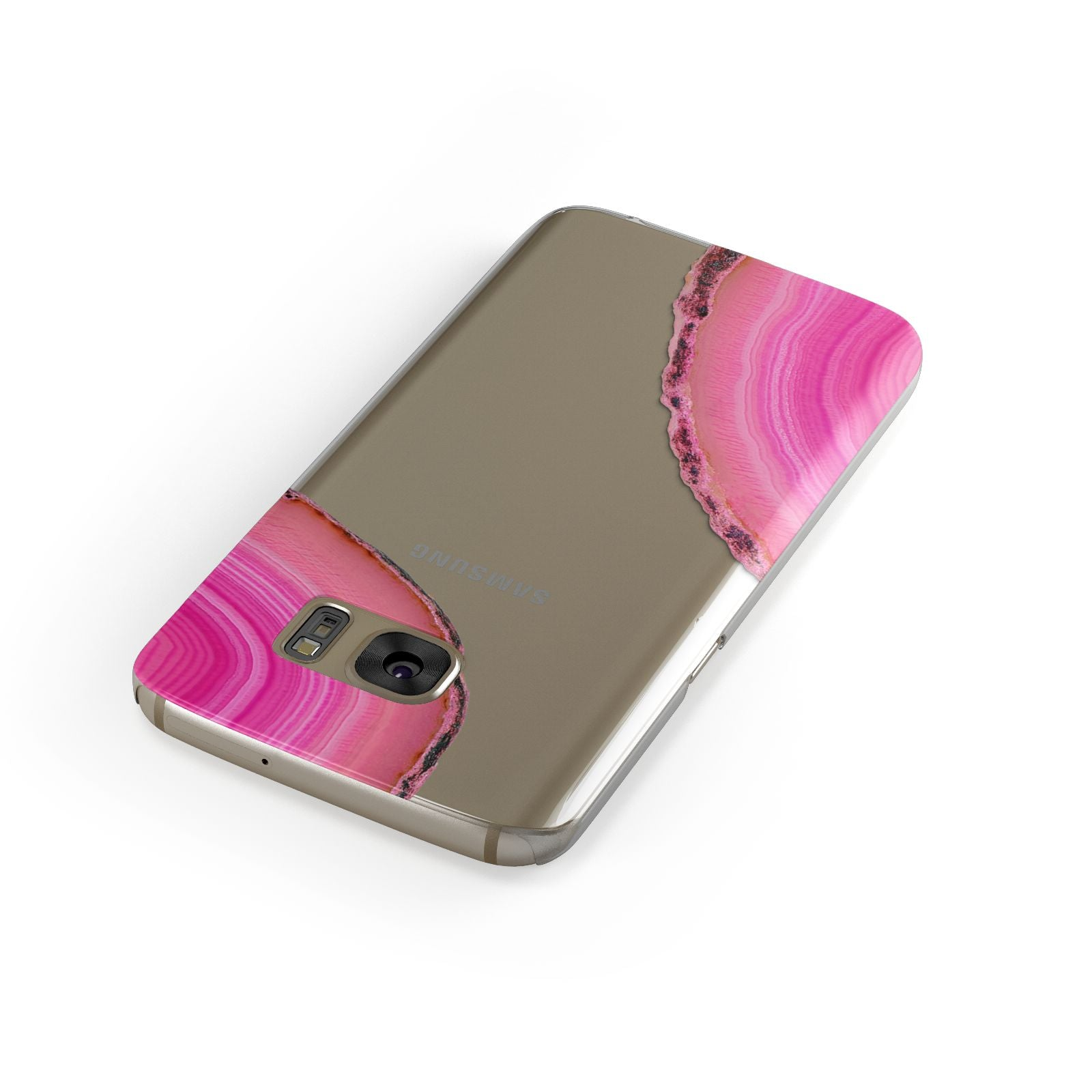 Agate Bright Pink Samsung Galaxy Case Front Close Up