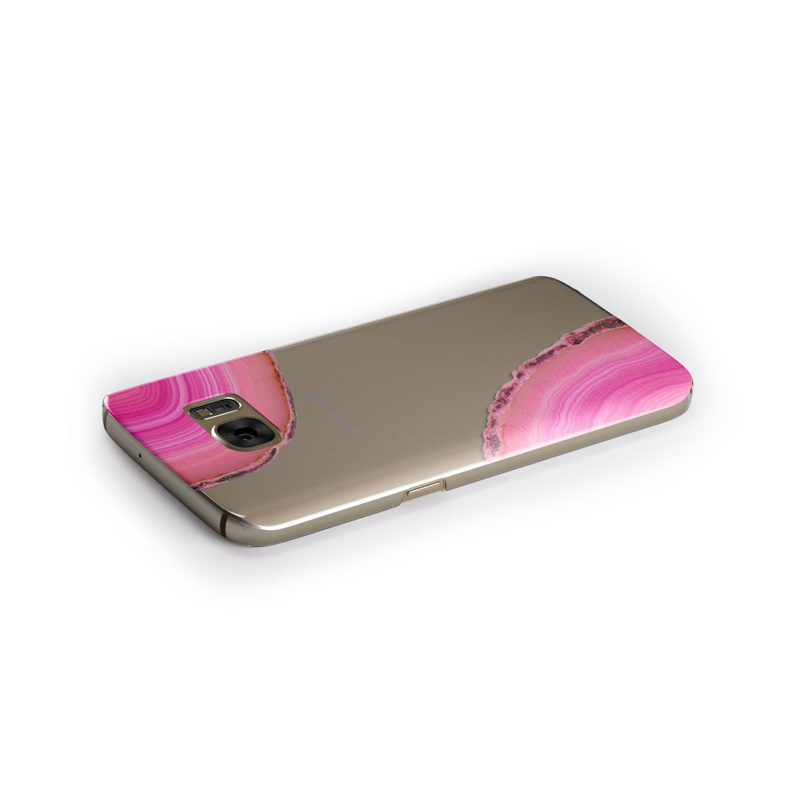 Agate Bright Pink Samsung Galaxy Case Side Close Up