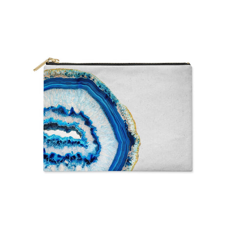Agate Dark Blue and Turquoise Clutch Bag