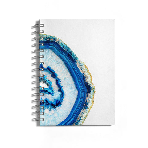 Agate Dark Blue and Turquoise Notebook