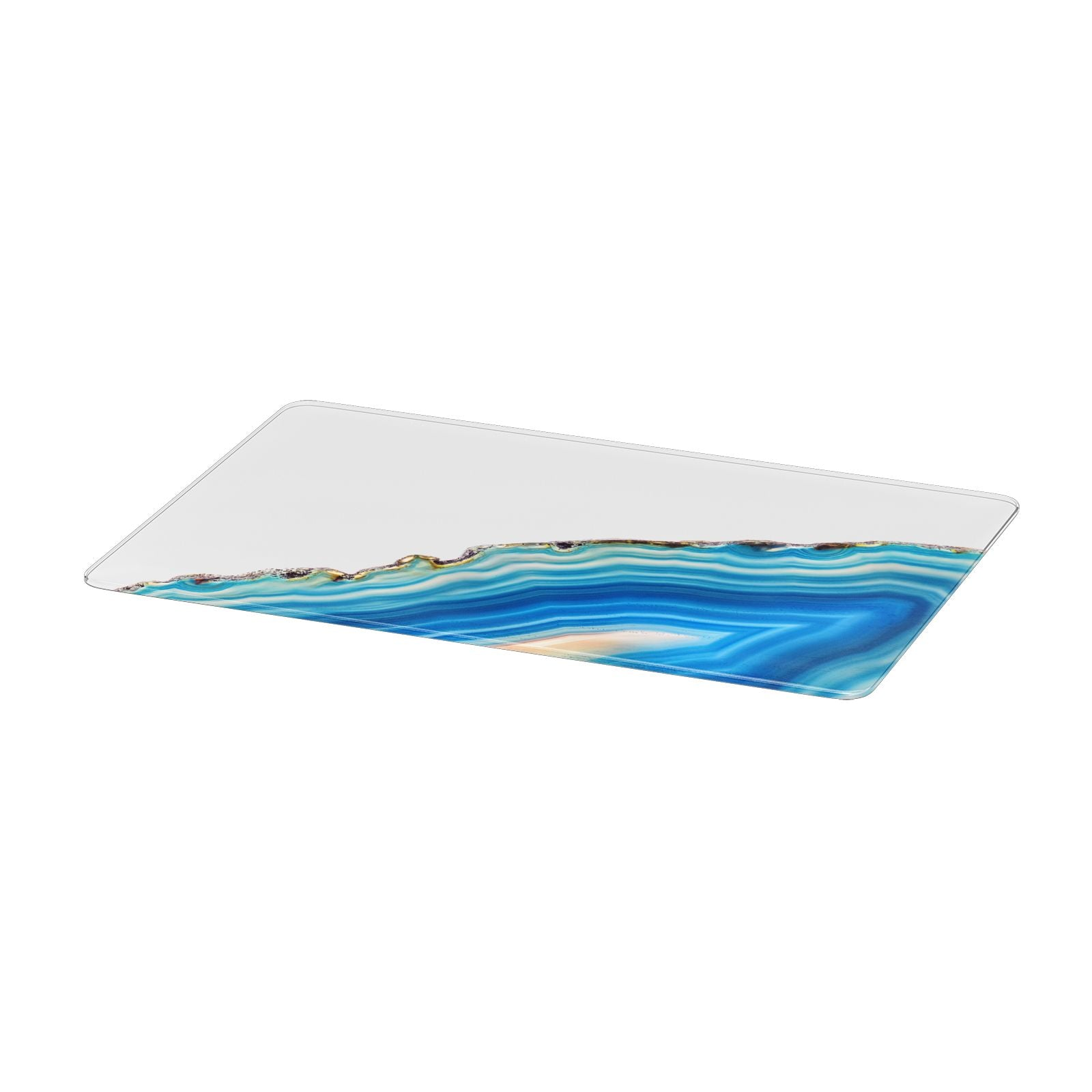 Agate Pale Blue and Bright Blue Apple MacBook Case Only