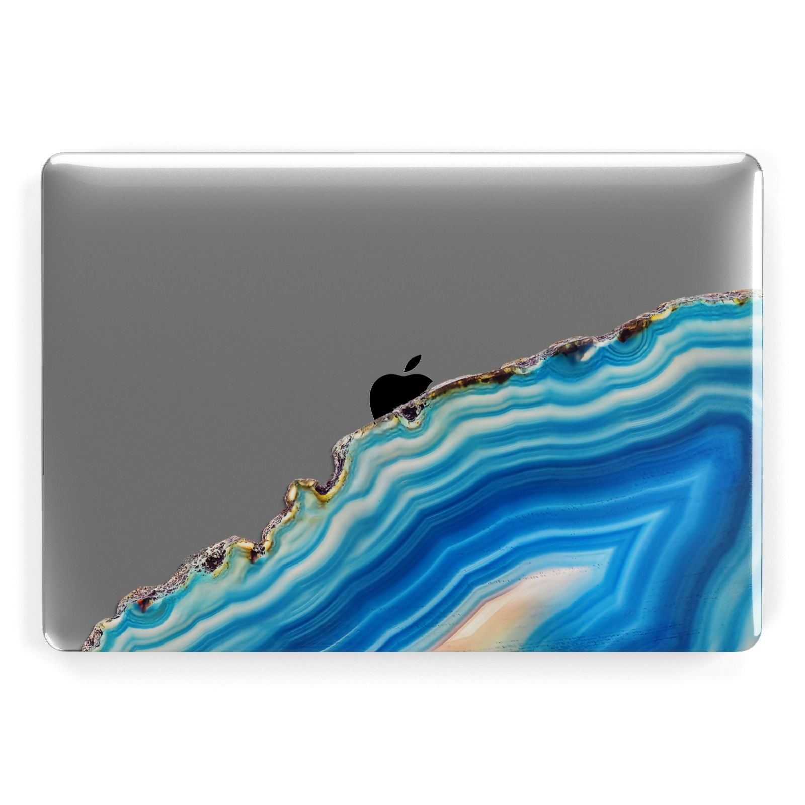 Agate Pale Blue and Bright Blue Apple MacBook Case