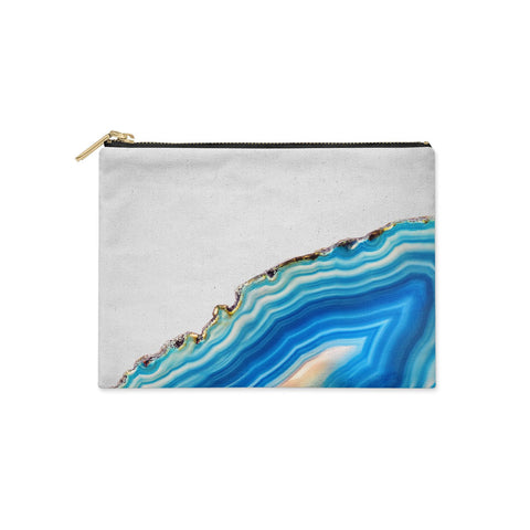 Agate Pale Blue and Bright Blue Clutch Bag