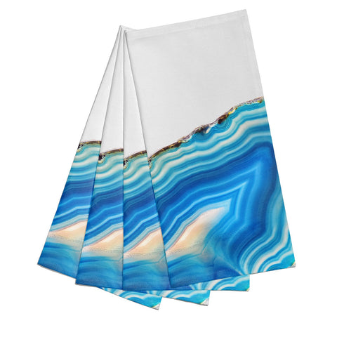 Agate Pale Blue and Bright Blue Napkins