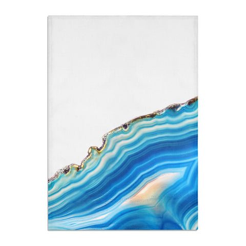 Agate Pale Blue and Bright Blue Tea Towel