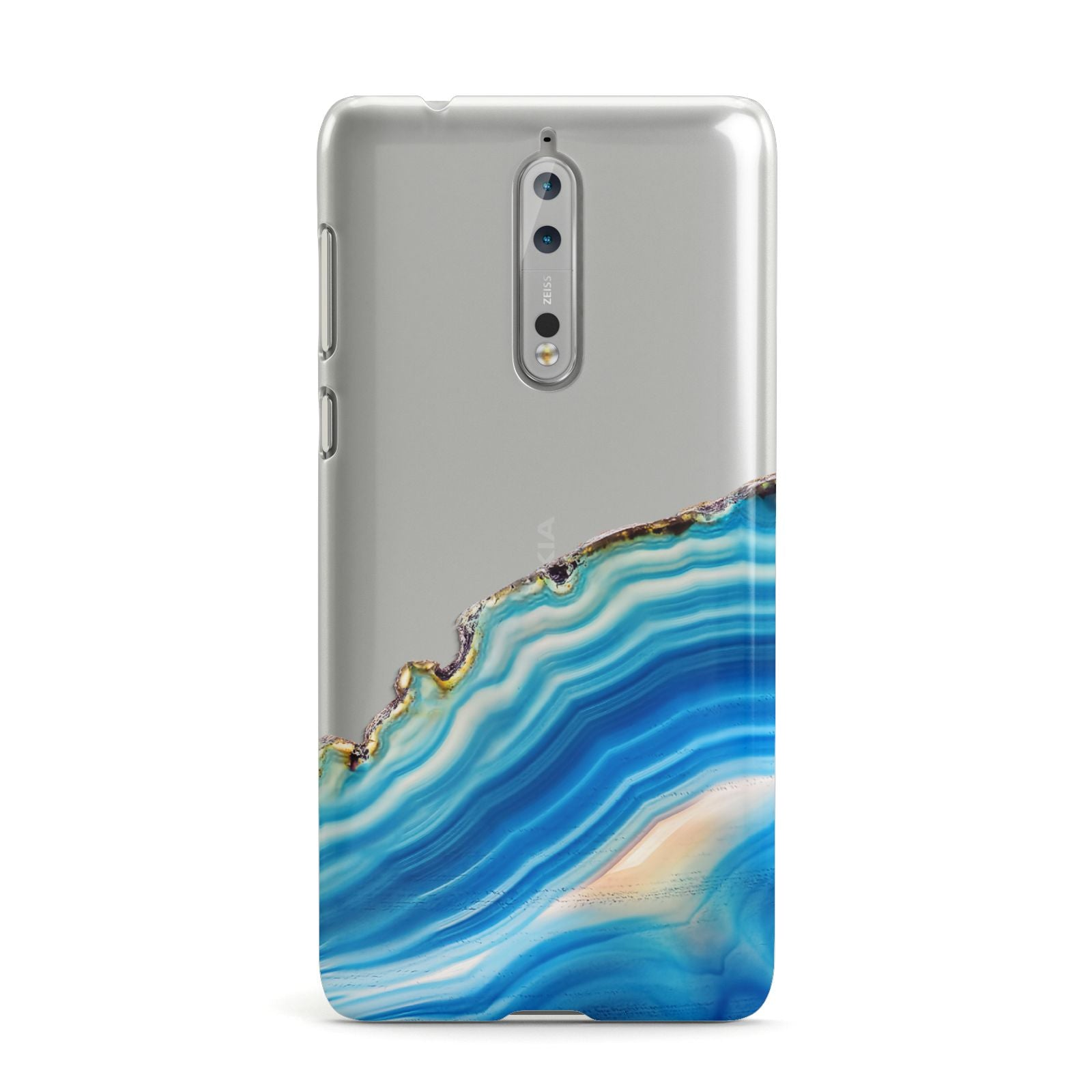 Agate Pale Blue and Bright Blue Nokia Case