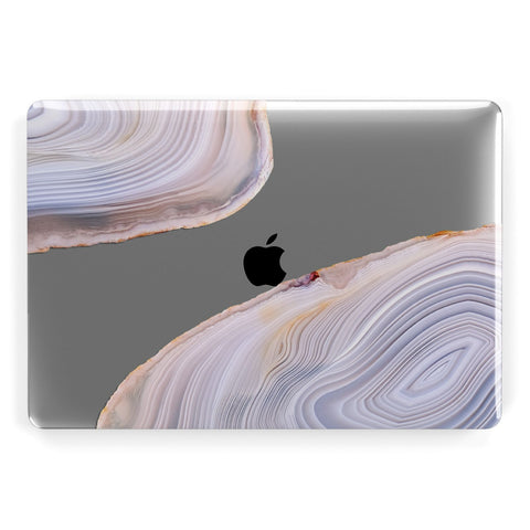 Agate Pale Pink and Blue Apple Macbook Case