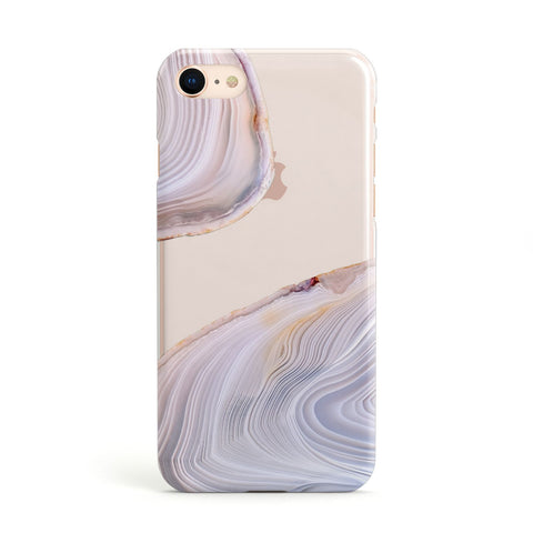 Agate Pale Pink and Blue Apple iPhone Case