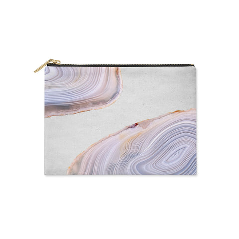 Agate Pale Pink and Blue Clutch Bag