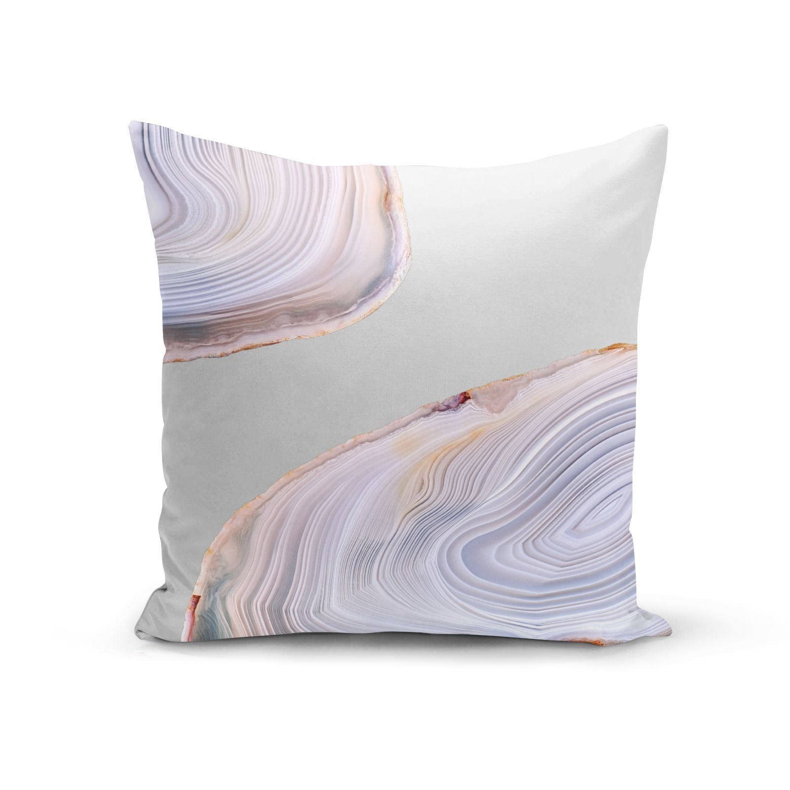 Agate Pale Pink and Blue Cotton Cushion