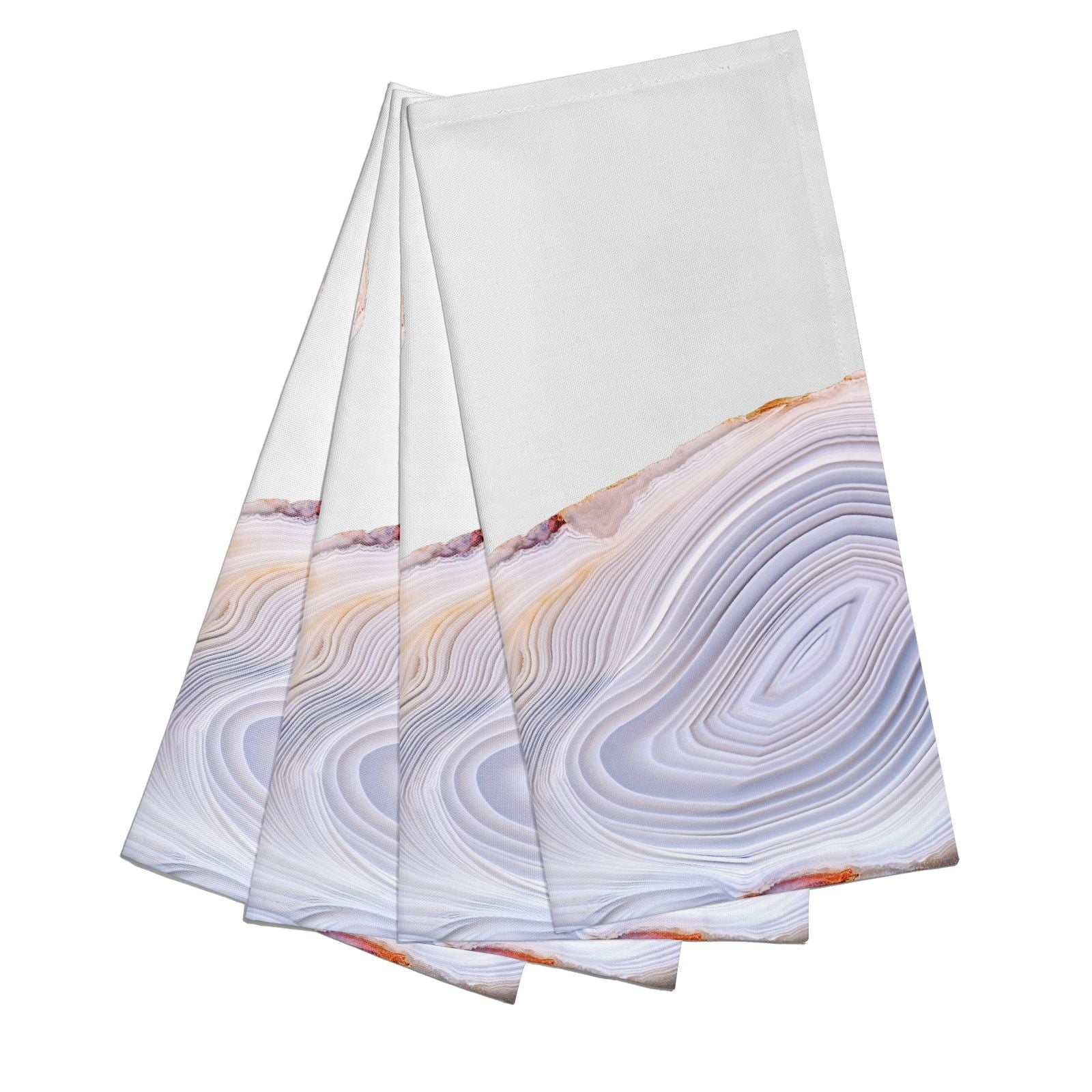 Agate Pale Pink and Blue Cotton Napkins Set of 4