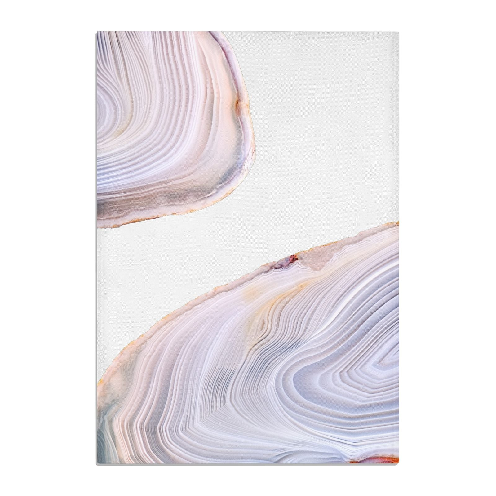 Agate Pale Pink and Blue Cotton Tea Towel