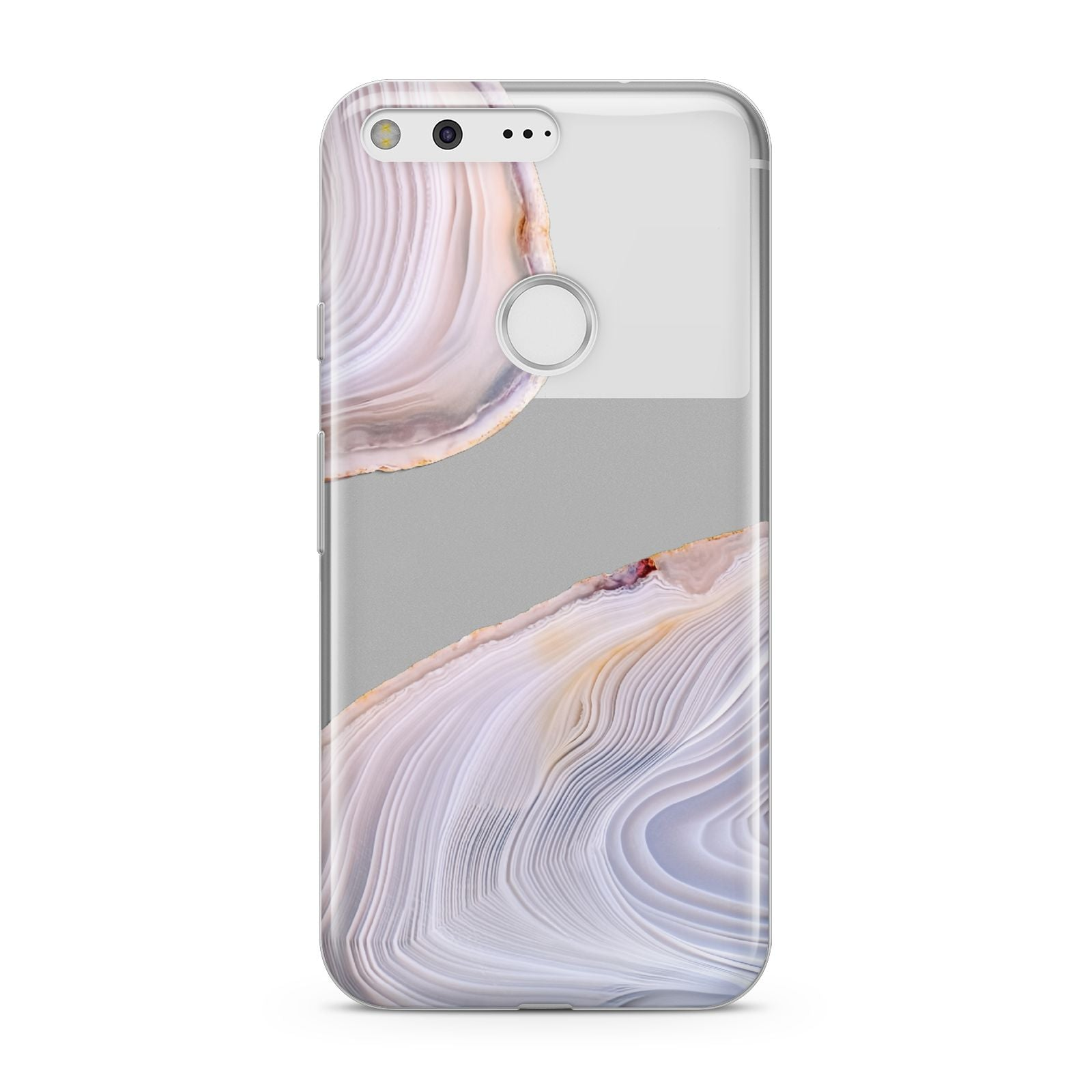 Agate Pale Pink and Blue Google Pixel Case