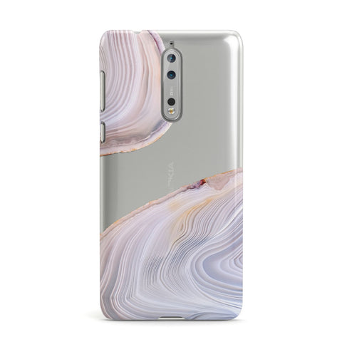 Agate Pale Pink and Blue Nokia Case