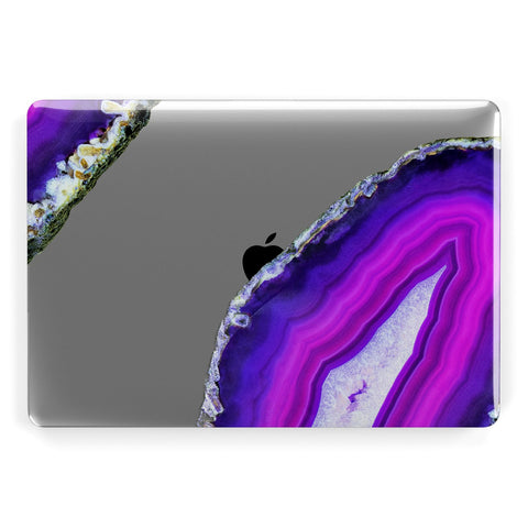 Agate Purple and Pink Apple Macbook Case