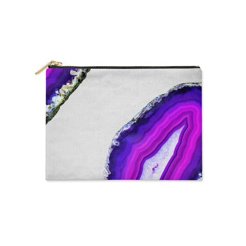Agate Purple and Pink Clutch Bag