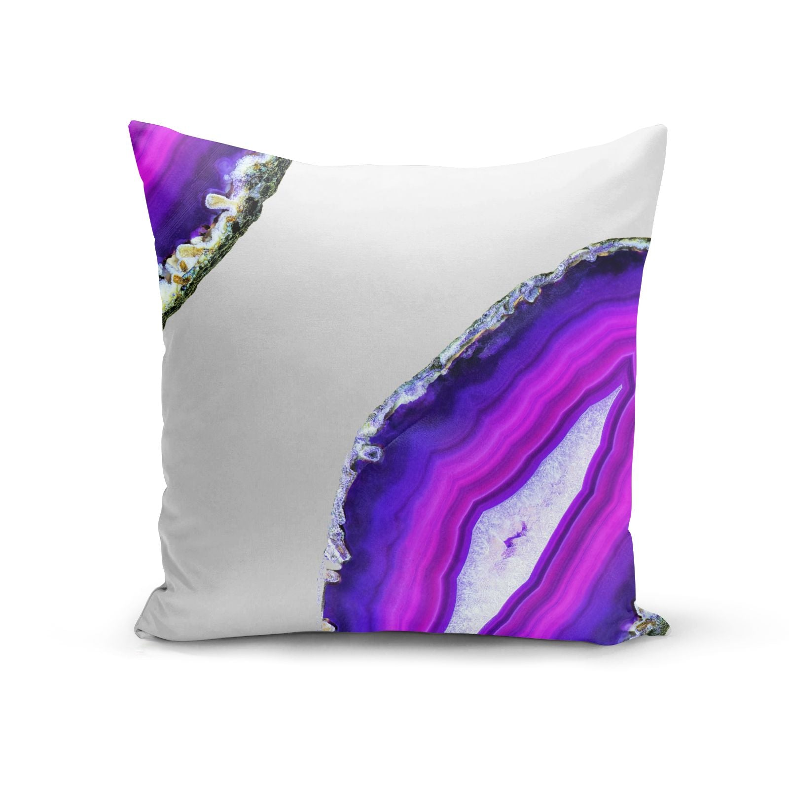 Agate Purple and Pink Cotton Cushion