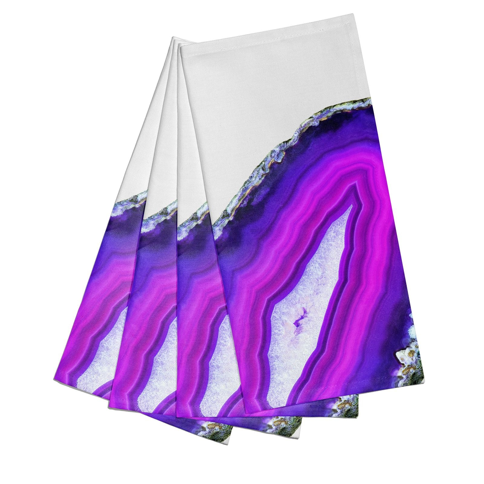Agate Purple and Pink Cotton Napkins Set of 4