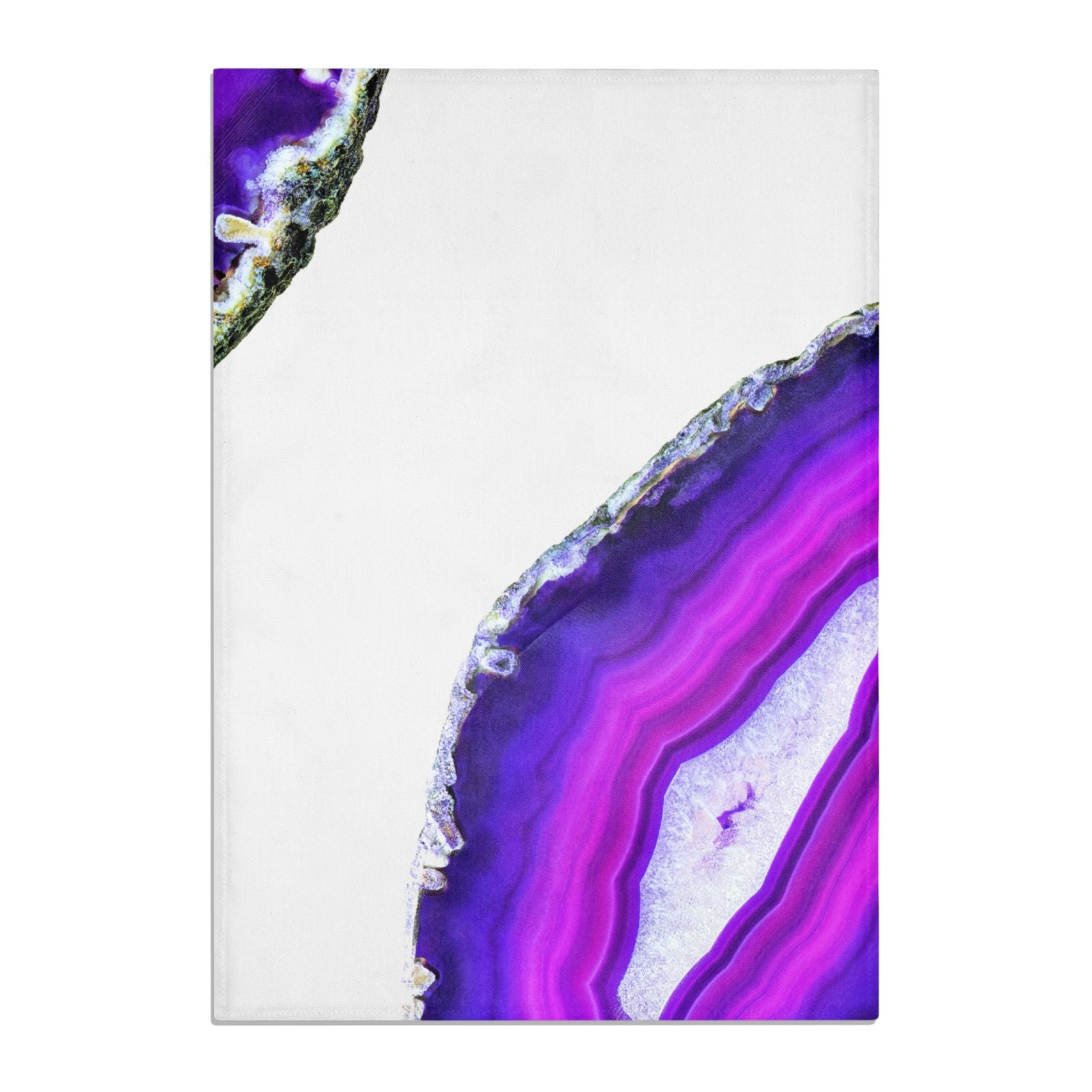 Agate Purple and Pink Cotton Tea Towel