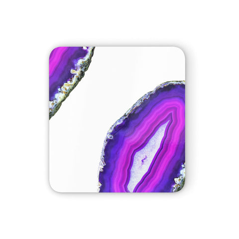Agate Purple and Pink Coasters set of 4