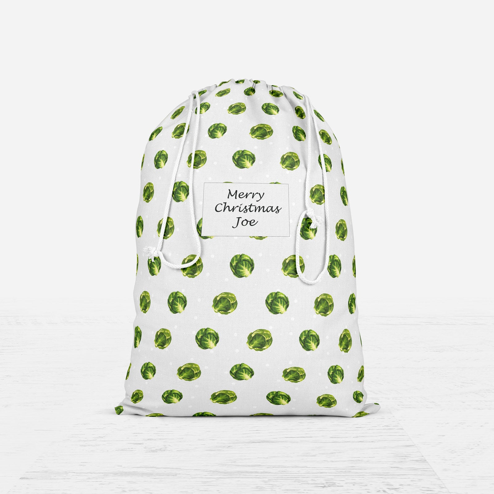 Personalised Brussel Sprout Christmas Sack