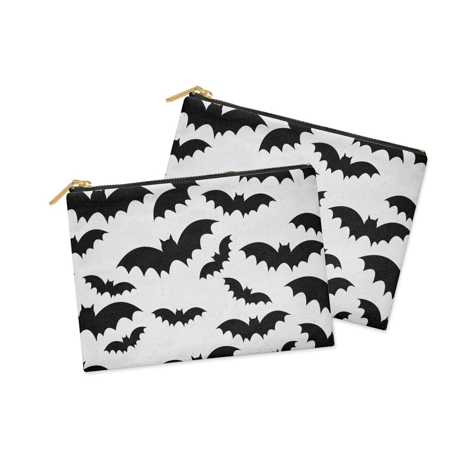 Bat Halloween Print Clutch Bag Zipper Pouch Alternative View