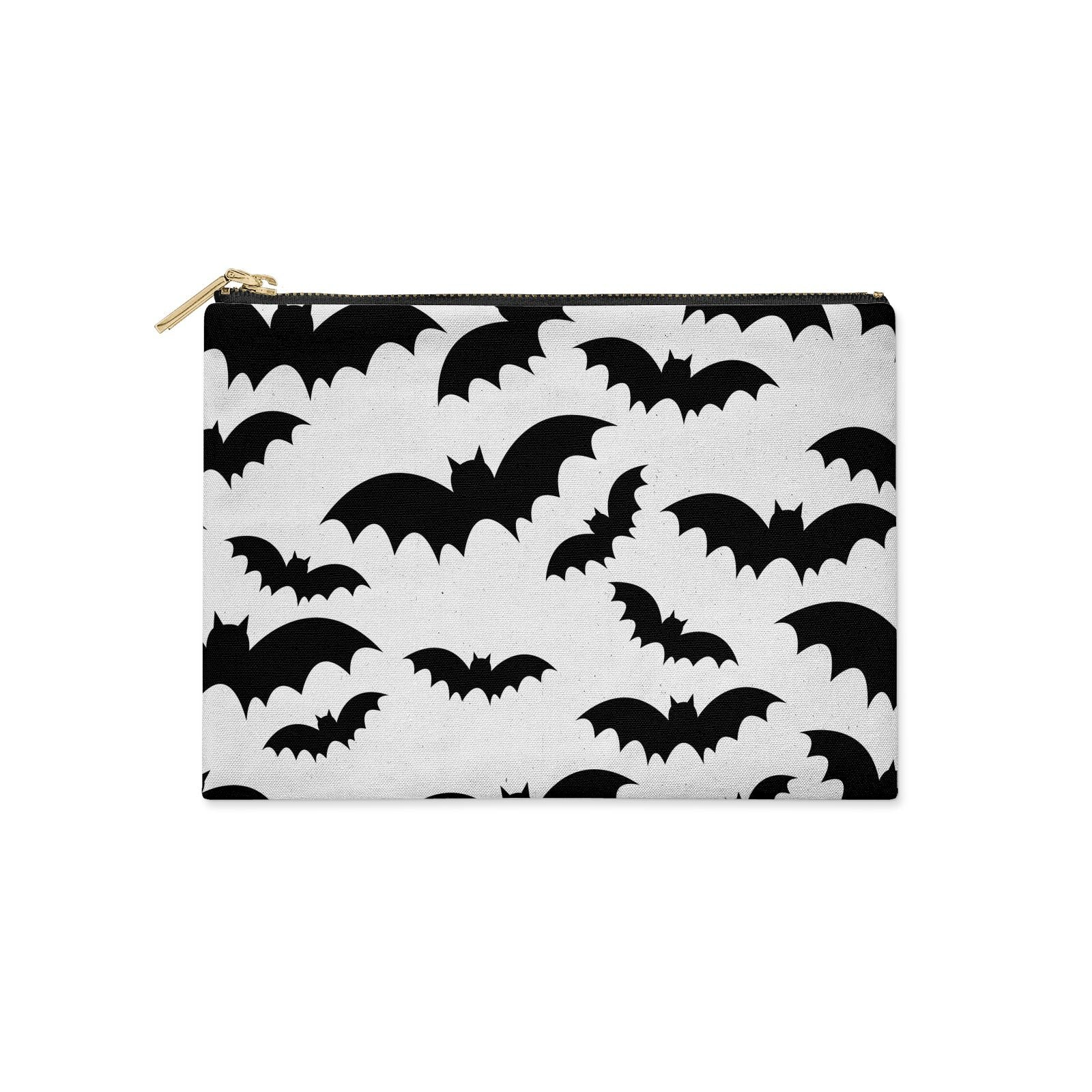 Bat Halloween Print Clutch Bag Zipper Pouch
