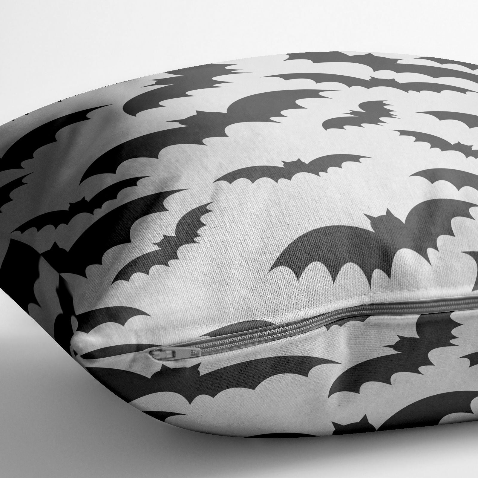 Bat Halloween Print Cotton Cushion Alternative Image