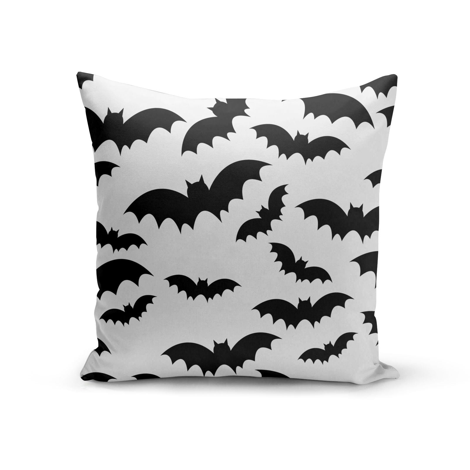 Bat Halloween Print Cotton Cushion