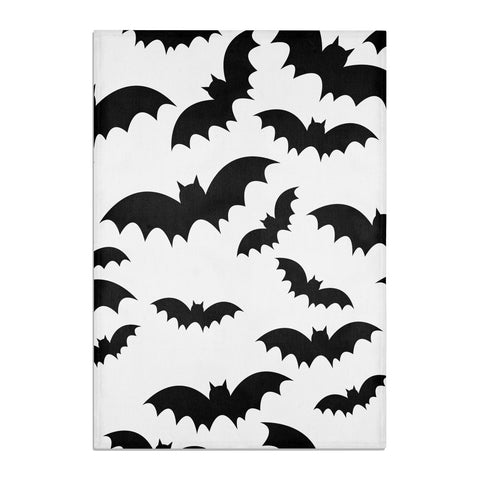 Bat Halloween Print Tea Towel