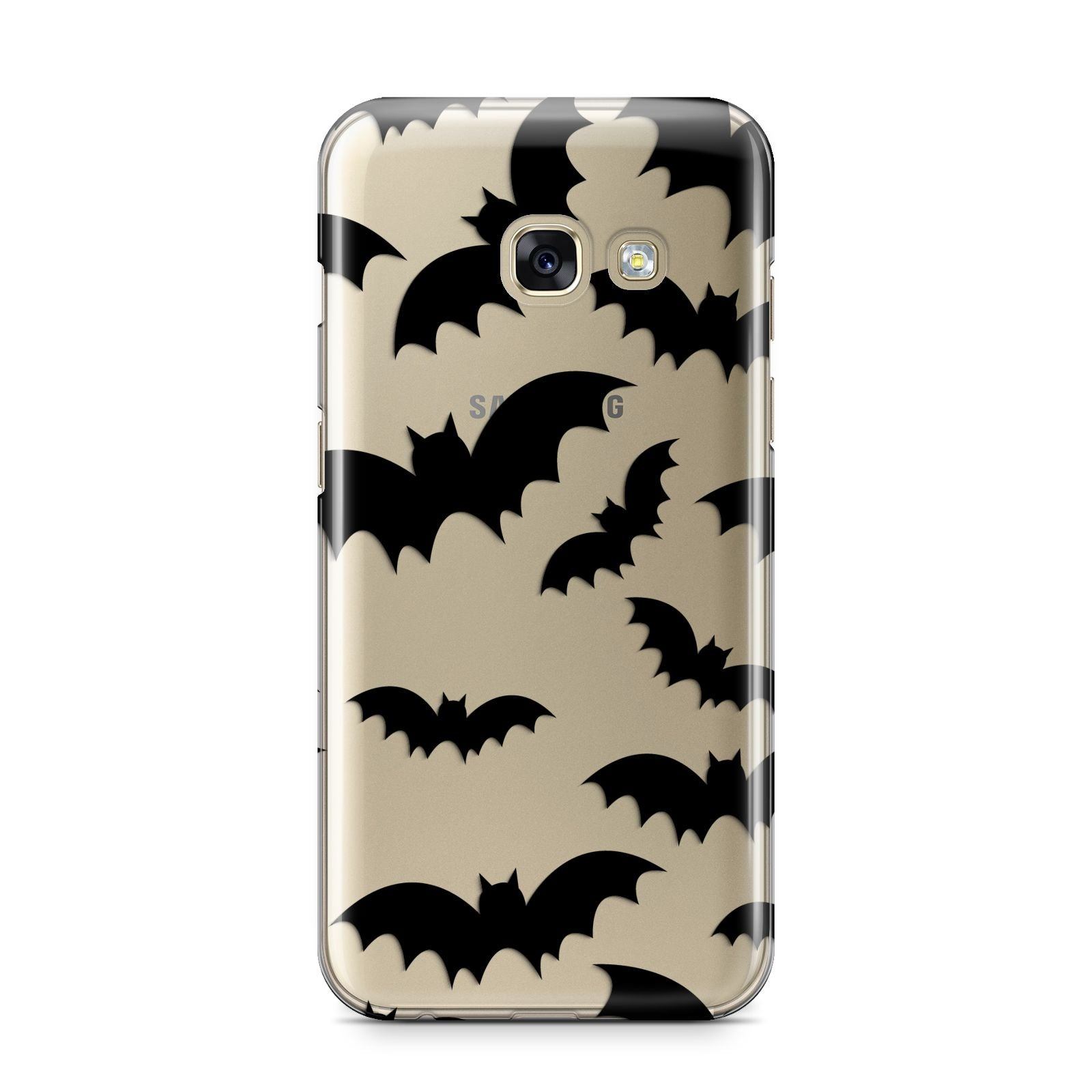 Bat Halloween Print Samsung Galaxy A3 2017 Case on gold phone
