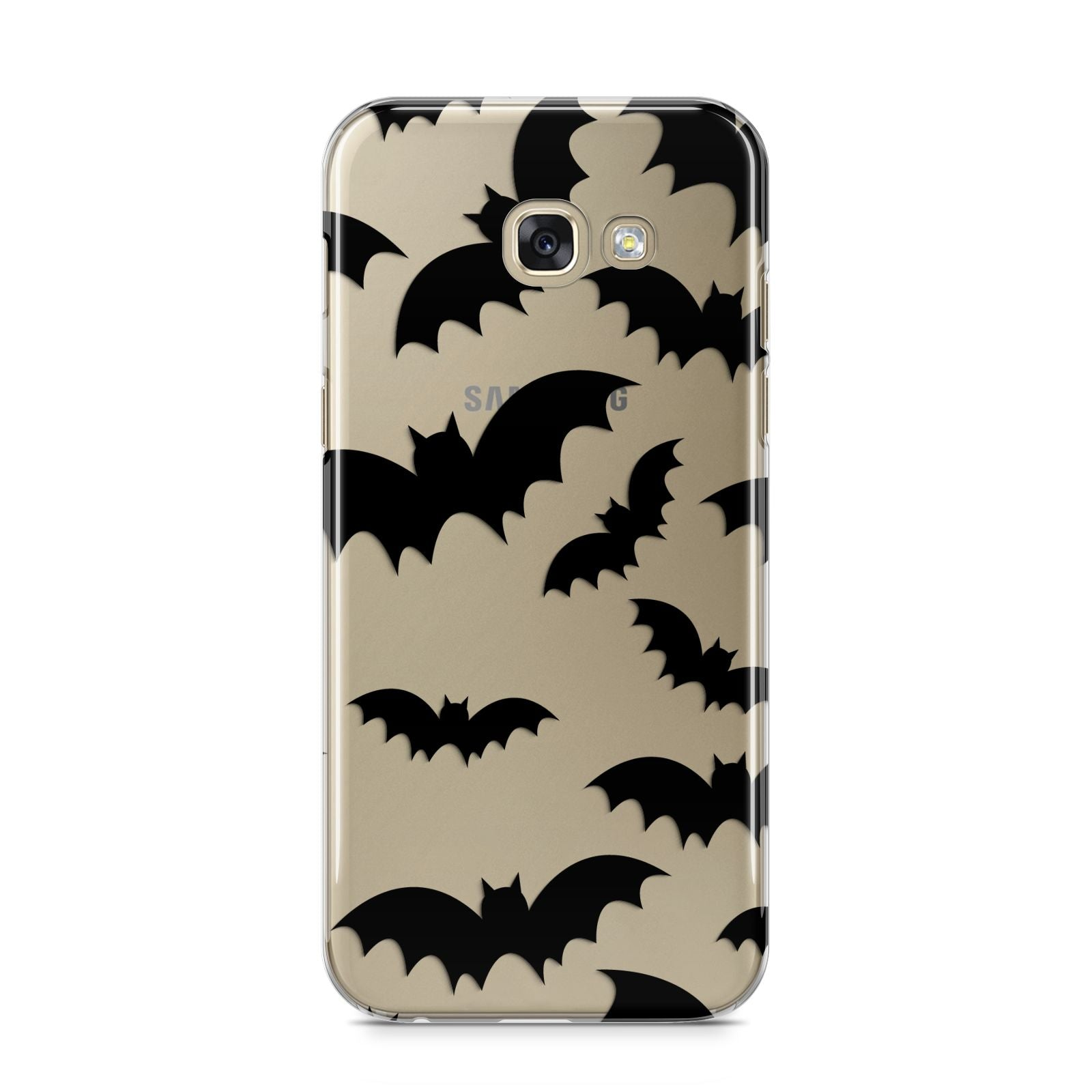 Bat Halloween Print Samsung Galaxy A5 2017 Case on gold phone
