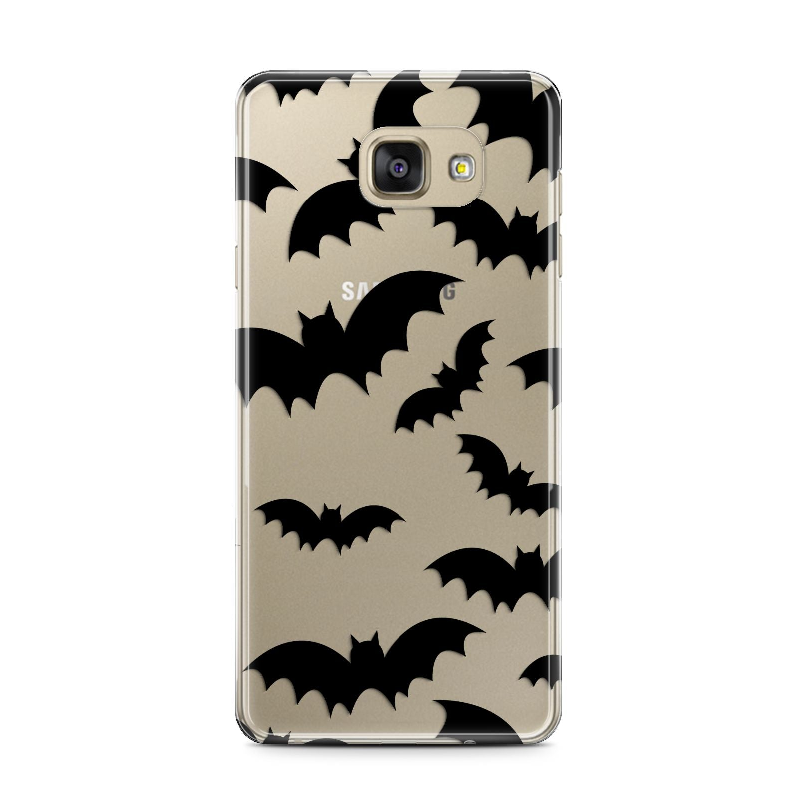 Bat Halloween Print Samsung Galaxy A7 2016 Case on gold phone
