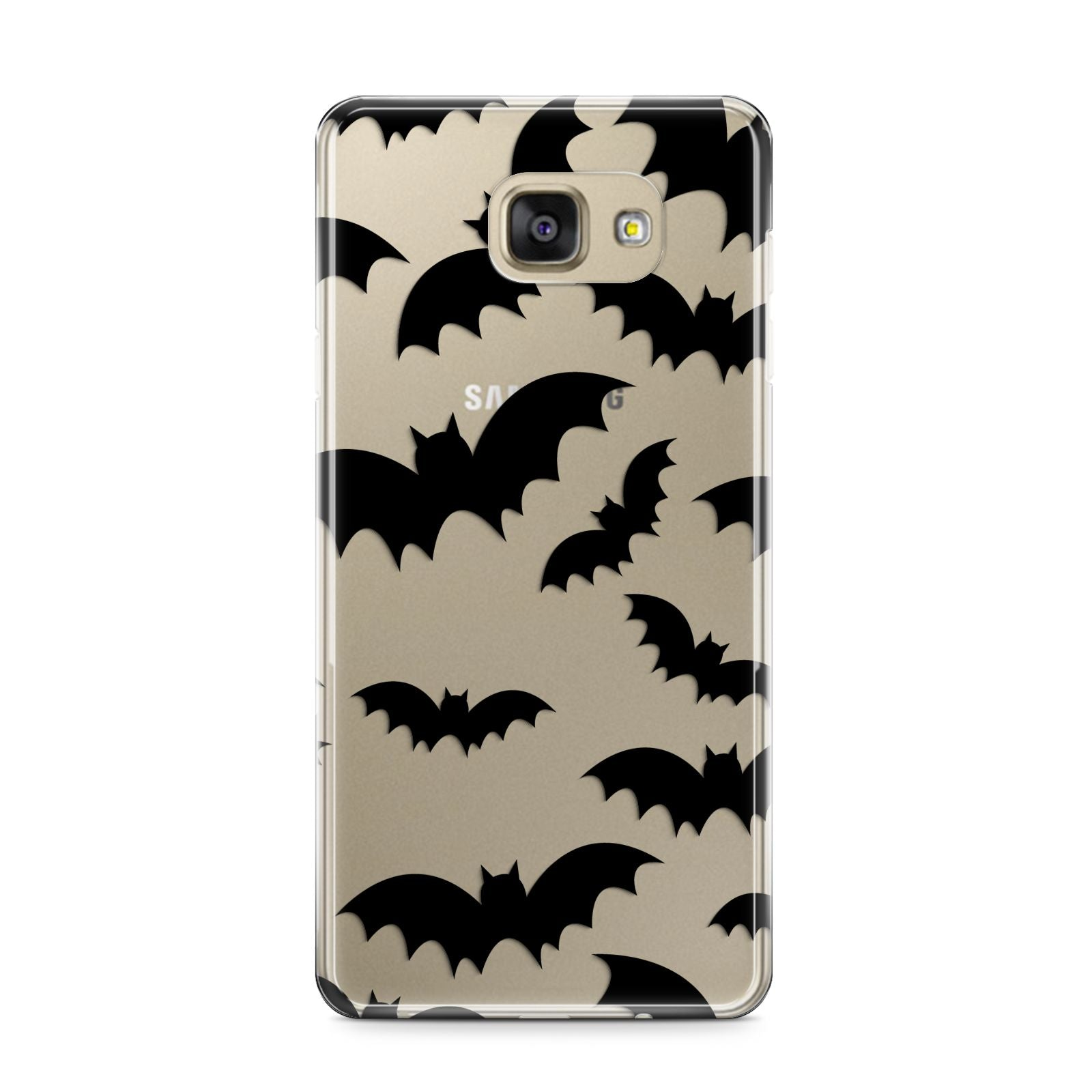 Bat Halloween Print Samsung Galaxy A9 2016 Case on gold phone
