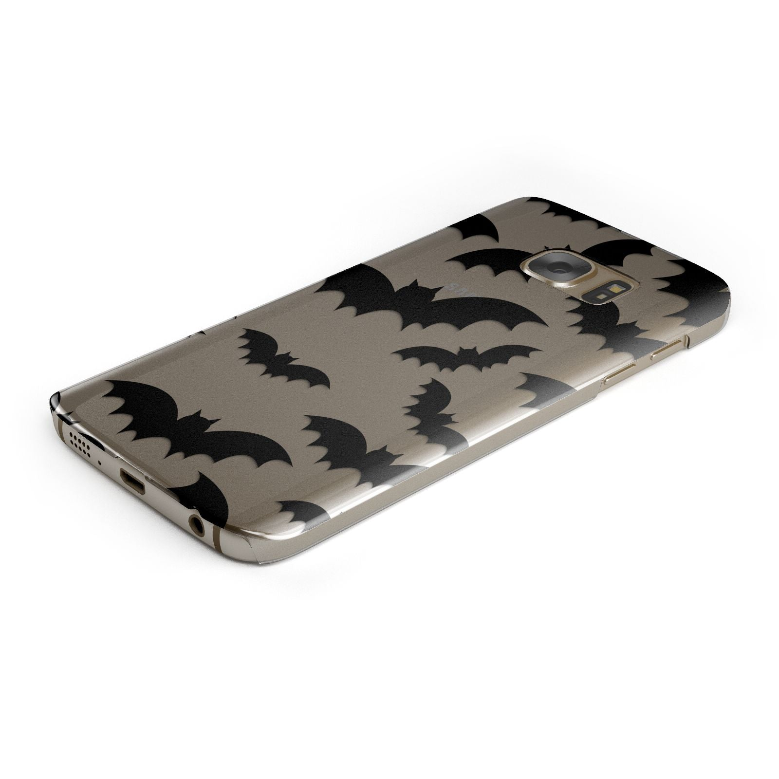 Bat Halloween Print Samsung Galaxy Case Bottom Cutout