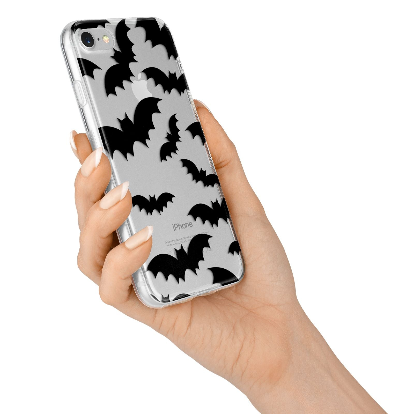 Bat Halloween Print iPhone 7 Bumper Case on Silver iPhone Alternative Image
