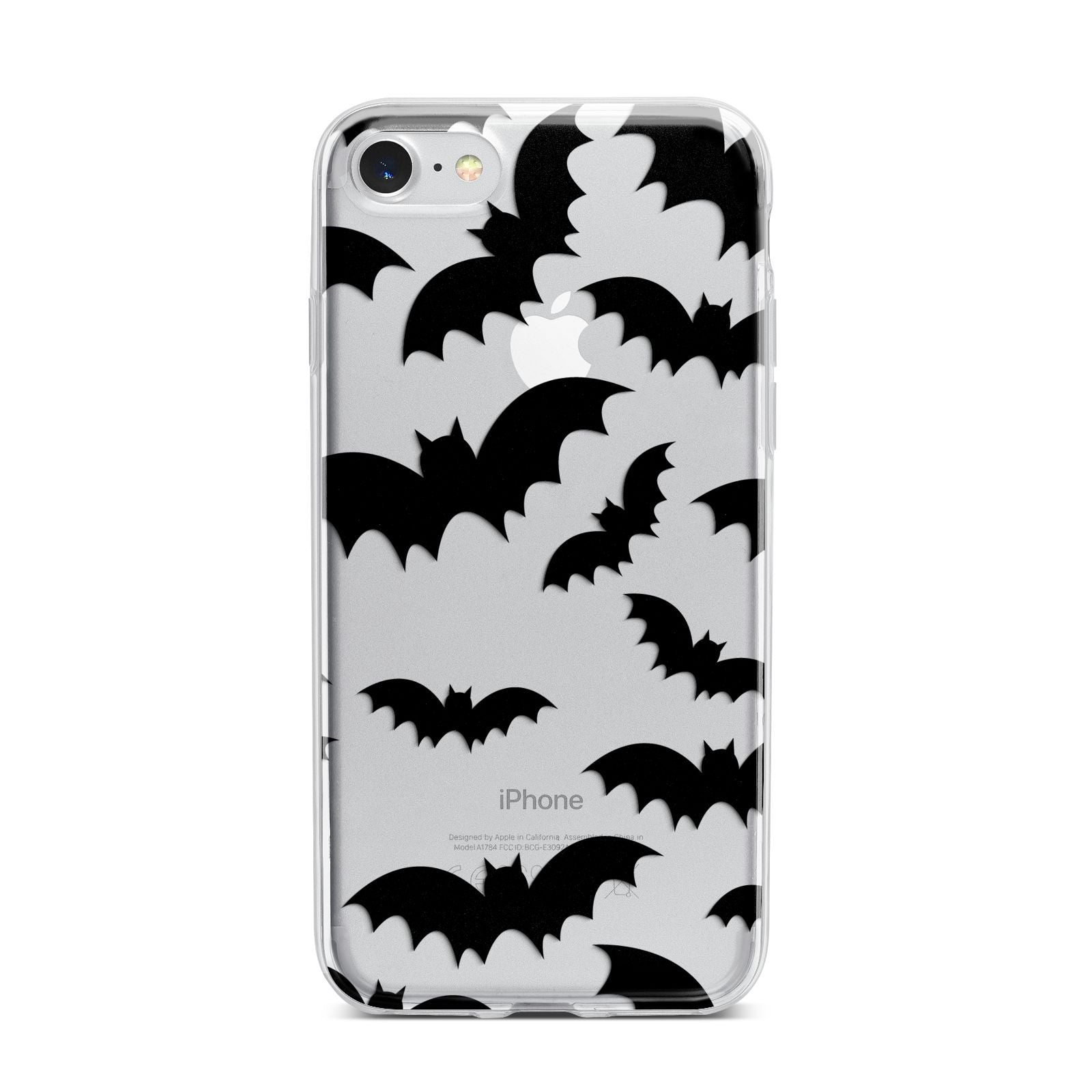 Bat Halloween Print iPhone 7 Bumper Case on Silver iPhone